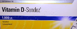 VITAMIN D SANDOZ 1.000 I.E. Tabletten